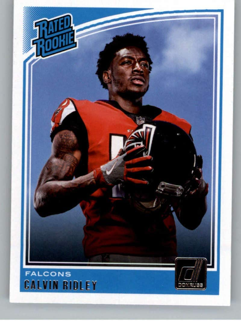 Amazon Com 2018 Donruss Football 311 Calvin Ridley Rc Rookie Card Atlanta Falcons Rated Rookie Official Nfl Trading Card Collectibles Fine Art
