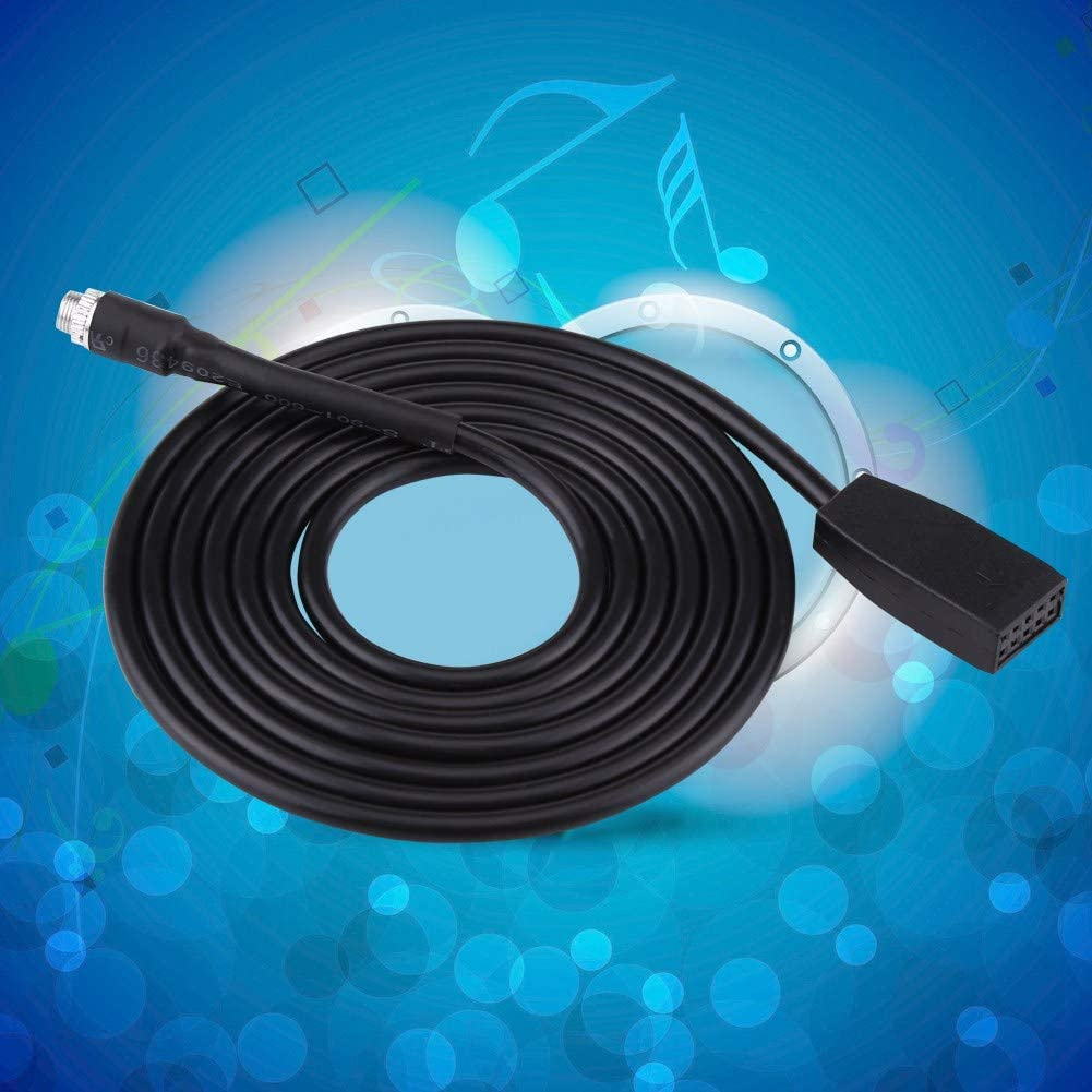Car Aux Cable Adapter 3.5mm ABS Plastic Female Jack Aux Audio Cord Good Sound Quality Plug and Play