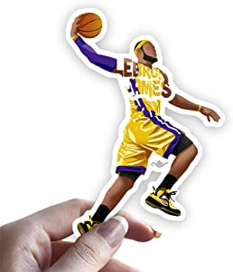 Grantedesigns Lebron James Sticker Basketball Decal for Laptop or Any Flat Surface