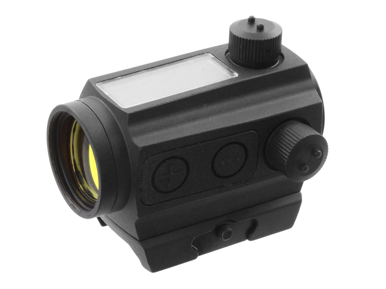 Leuchtpunkt Visier mit Riser /& Weavermontage Begadi Solar Power Red Dot schwarz