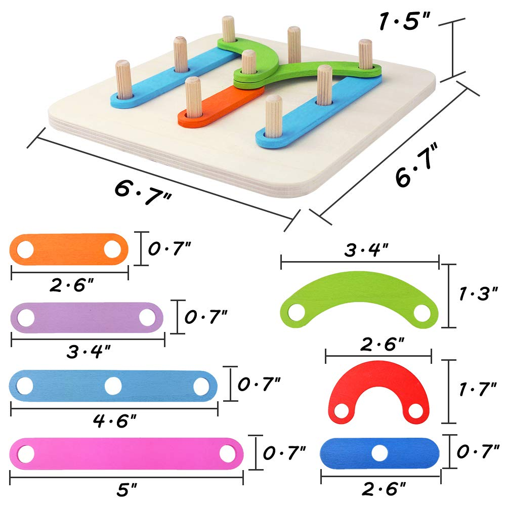 Mypre Learning Letter Toys Number Sorter Construction Activity Set Wooden Educational Montessori Toy Alphabet Board Recognition Games Preschool Shape Rainbow Color Blocks Stacking Studying Game