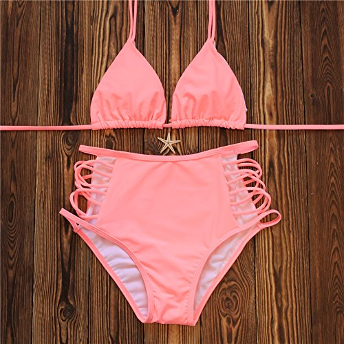 Lanyani Bikini Elastic Cutout Swimsuit