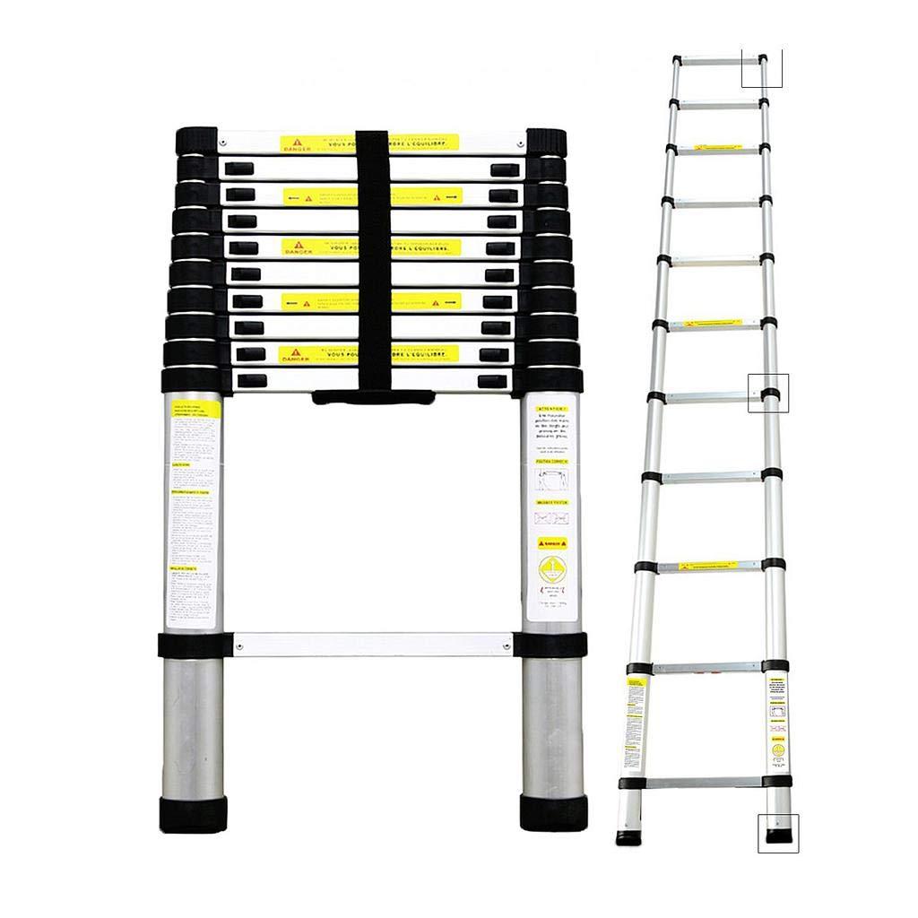 Todeco - Echelle Telescopique, Échelle Pliable - Charge maximale: 150 kg - Standards/Certifications: EN131 - 3,2 mètre(s), Sac de transport OFFERT, EN 131 product image