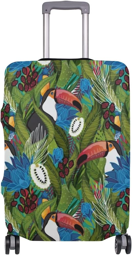 Luggage Protective Covers with Toucan Pattern Washable Travel Luggage Cover 18-32 Inch