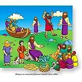 Beginners Bible Miracles of Jesus Felt Figures for Flannel Board Stories Precut
