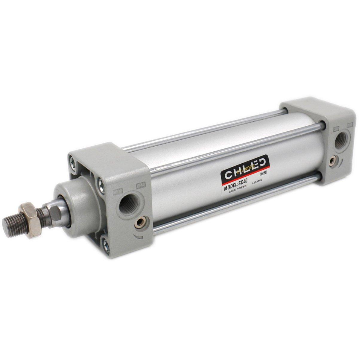 Heschen pneumatico standard cilindro SC 40 –  125 PT1/4 porte 40 mm diametro 125 mm, corsa a doppio effetto CHLED Pneumatic