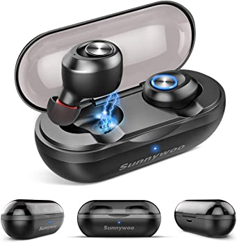 Sunnywoo Latest 5.0 Bluetooth Wireless Earphones