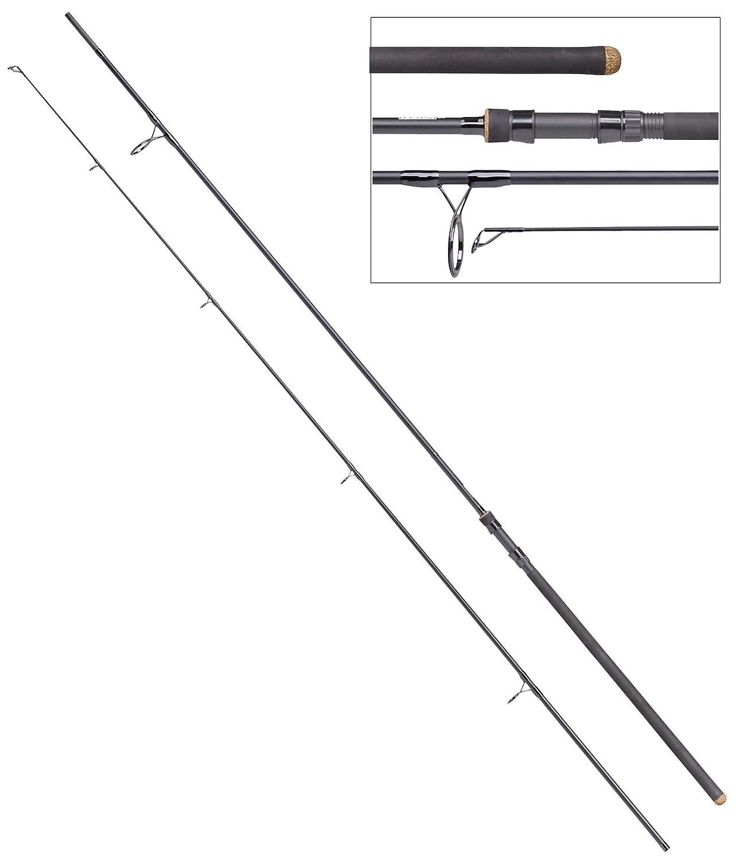 MAD Legion UK, 3,90m, 3,50lbs, 2-tlg. - Karpfenrute, inkl. gratis Fishernator Mehrzweck LED-Taschenlampe DAM
