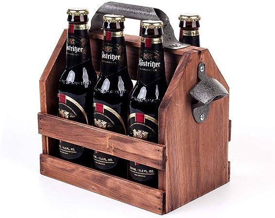 Metal Caja De Leche/Portador De Botella Con Mango Incorporado En El Abridor De Botellas 6 Botellas De Capacidad Cesta Titular: Amazon.es: Hogar