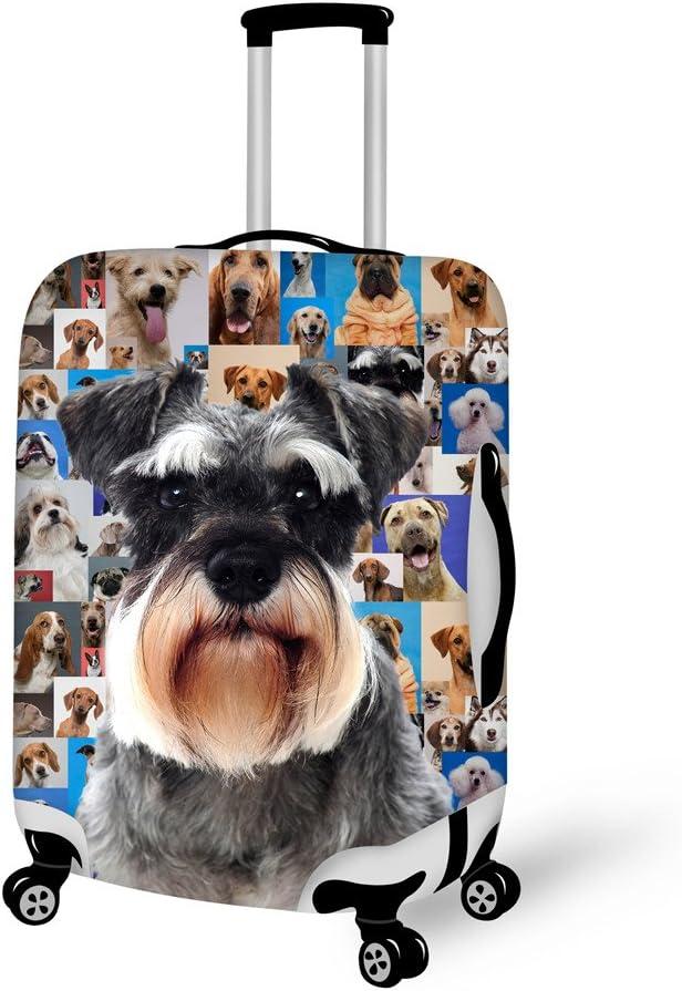 HUGS IDEA 22//24//26 Inch Pet Cute Puppy Dachshund Luggage Cover Protector Elastic