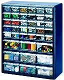 Stack-On DSB-39 39 Bin Plastic Drawer Parts Storage Organizer Cabinet, Blue