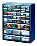 Stack-On DSB-39 39 Bin Plastic Drawer Parts Storage Organizer Cabinet, Blue