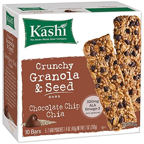 Chocolate Chip Chia Crunchy Granola & Seed Bars 7 Ounces (Case of 12)