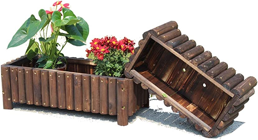 ZWJLJM [2 Piezas] Cajas De Flores De JardíN Al Aire Libre Jardinera 60 × 30 × 25cm: Amazon.es: Hogar