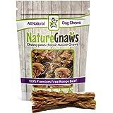 Nature Gnaws Braided Bully Sticks - 100% Natural Grass-Fed Free-Range Premium Beef Dog Chews