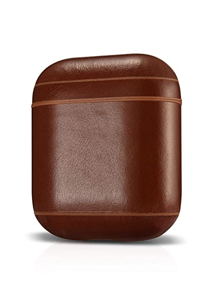 newest 44926 4d6d7 AirPods Case Leather - Protective Shockproof Handmade Premium Cover for  Apple AirPods and AirPods with Wireless Charging Case (Vintage Brown)