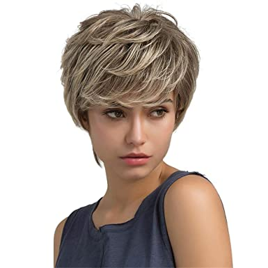 Hair Styling Accessories, Light brown texture real short
