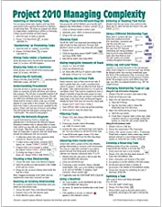 Microsoft Project 2010 Quick Reference Guide: Managing Complexity (Cheat Sheet of Instructions, Tips & Shortcuts - Laminated Card)