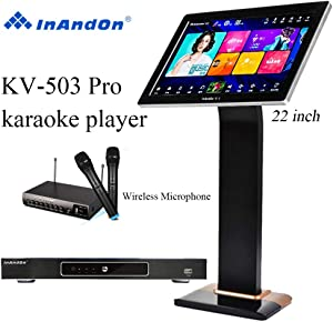 "2020 New Type InAndon KV-503 Pro Karaoke Player Intelligent voice keying machine online movie dual system coexistence real-time score The newest stytle (KV-503 Pro+8TB HD With 22"" Touch Screen"