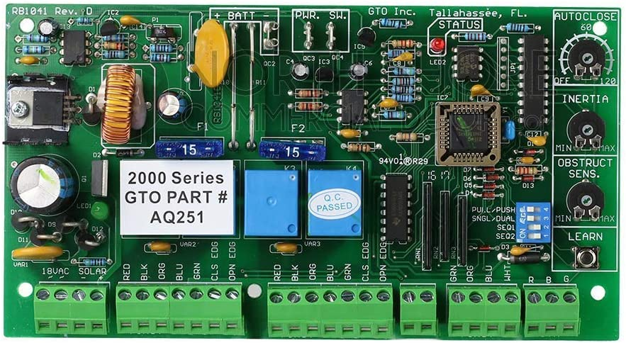 GTO AQ251 Circuit Control Board Gate Opener Operators