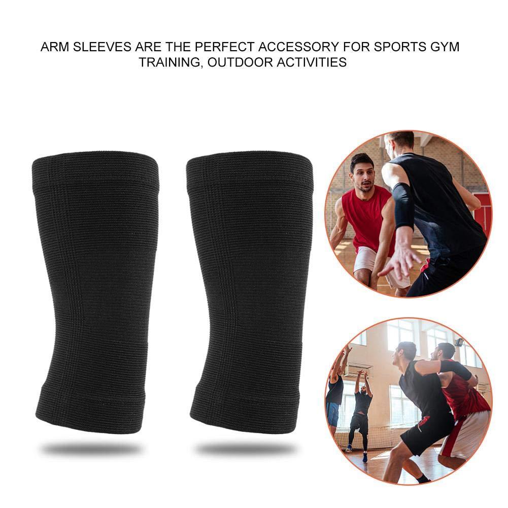 Huairdum Manchette de Bras Support de coude de Soutien de coude de Garde de Bras de Basket-Ball Mince tricot/é en Nylon de Sports en Plein air pour des Sports en Plein air