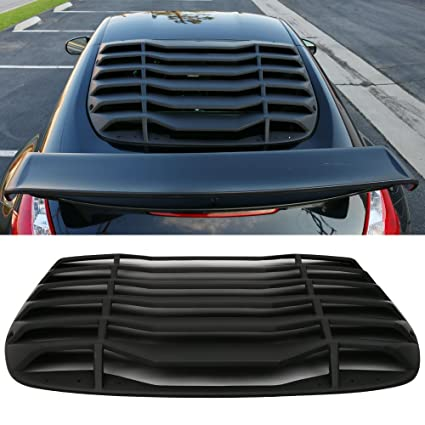 Windshield Louver Fits 2009-2019 Nissan 370Z | IKON Style Rear Window  Louvers Cover Sun Shade ABS by IKON MOTORSPORTS | 2010 2011 2012 2013 2014  2015