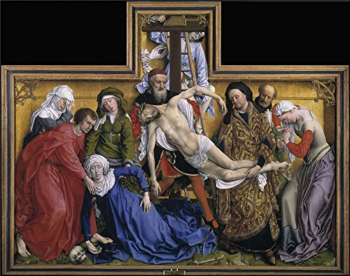 Oil Painting 'Weyden Roger Van Der Descent From The Cross Ca. 1435 ' Printing On Perfect Effect Canvas , 30 X 38 Inch / 76 X 97 Cm ,the Best Home Theater Artwork And Home Decoration And Gifts Is This Cheap But Art Decorative Art Decorative Canvas Prints (Gravy Victoria Queen)