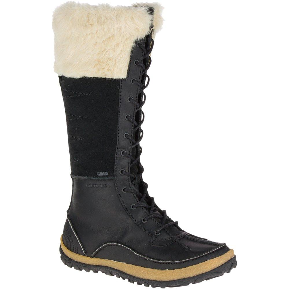 Merrell Women's Tremblant Tall Polar Waterproof Snow Boot, Black, 6.5 M US