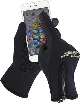 SHARBAY Deportes Guantes con Pantalla táctil de Invierno cálido al Aire Libre a Prueba de Viento Ciclismo Corriendo Escalada esquí Smartphone Guantes para Hombres Mujeres: Amazon.es: Deportes y aire libre