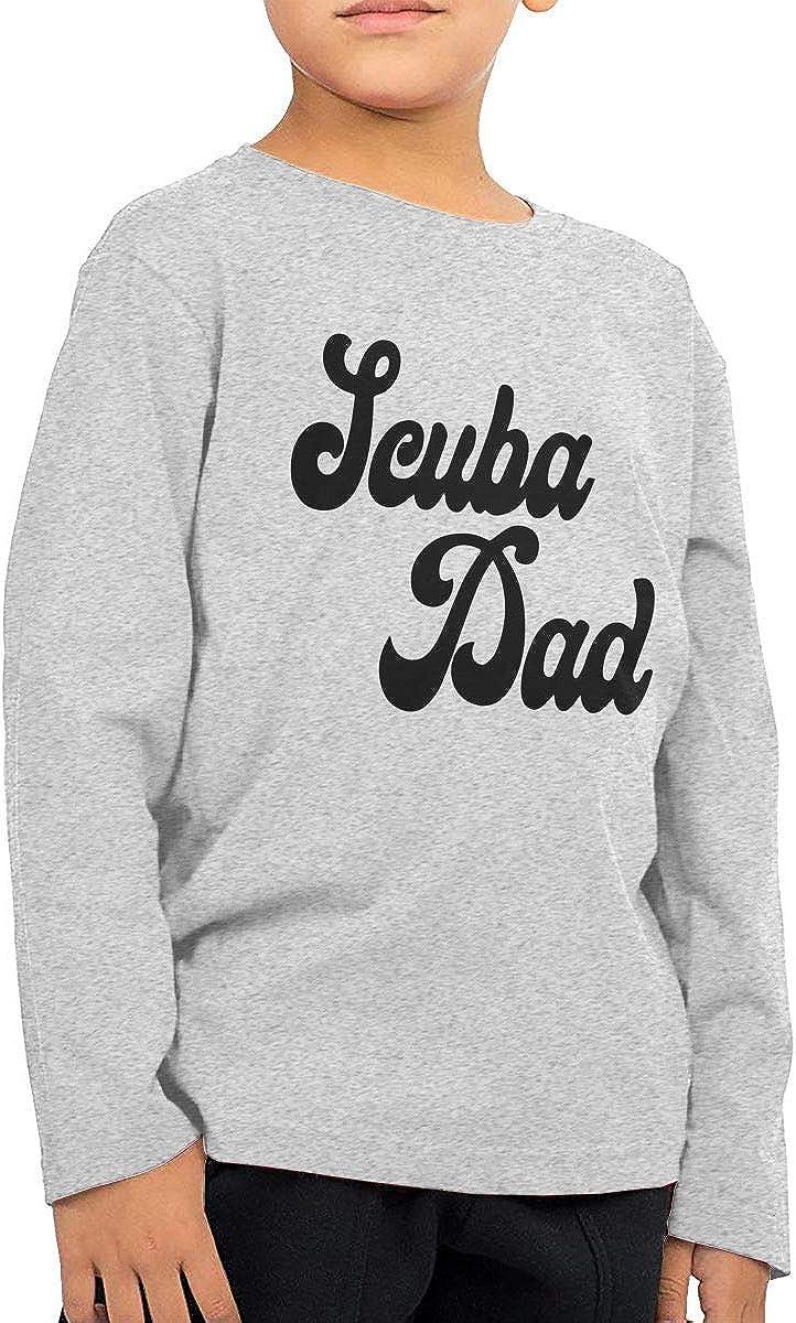 CERTONGCXTS Little Boys Scuba Dad ComfortSoft Long Sleeve Shirt