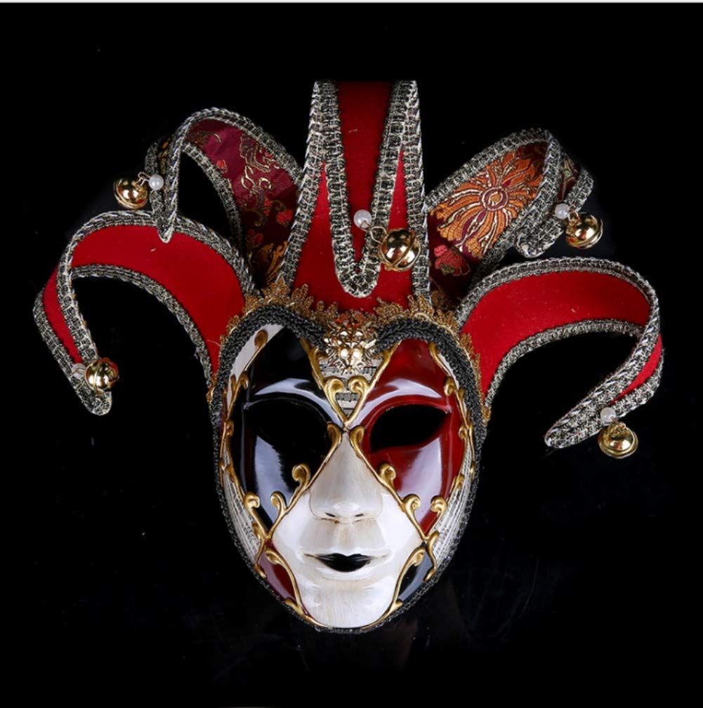 Zicue Humgoldus Mask Masquerade Prom Mask Painted Halloween Party Party Mask Upscale Performance Mask ( Size   3 )