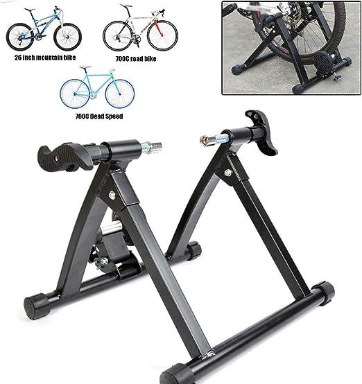 SJASD Rodillo Bicicleta Montaña, Plegable Ciclismo Turbo Trainer, Entrenador De Bicicleta De Ejercicio Interior Entrenamiento Resistencia: Amazon.es: Hogar