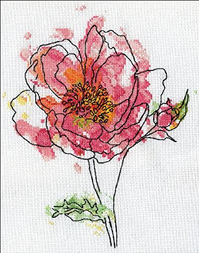 - Pink Floral Counted Cross Stitch Kit-8