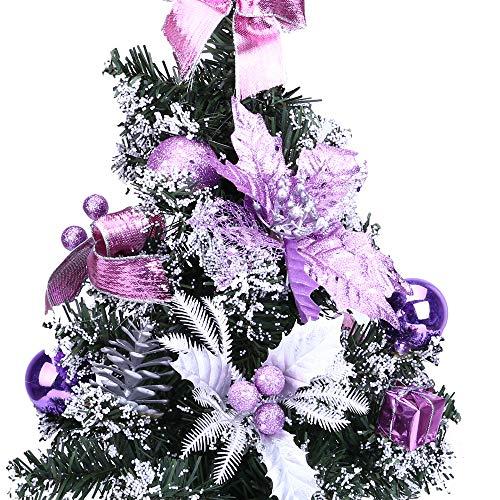 Oldeagle Christmas Mini Christmas Tree, Artificial Christmas Miniature Tree Ornament Desk Table for Christmas Festival Decorations(40cm) (Purple) by Oldeagle (Image #3)