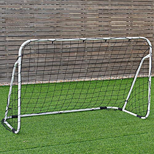 GOPLUS Portable Soccer Goal, Outdoor Soccer Goal Net w/Black Anti-Skid Pads, Quick Set up and Easy Disassemble Practice Soccer Goal (6