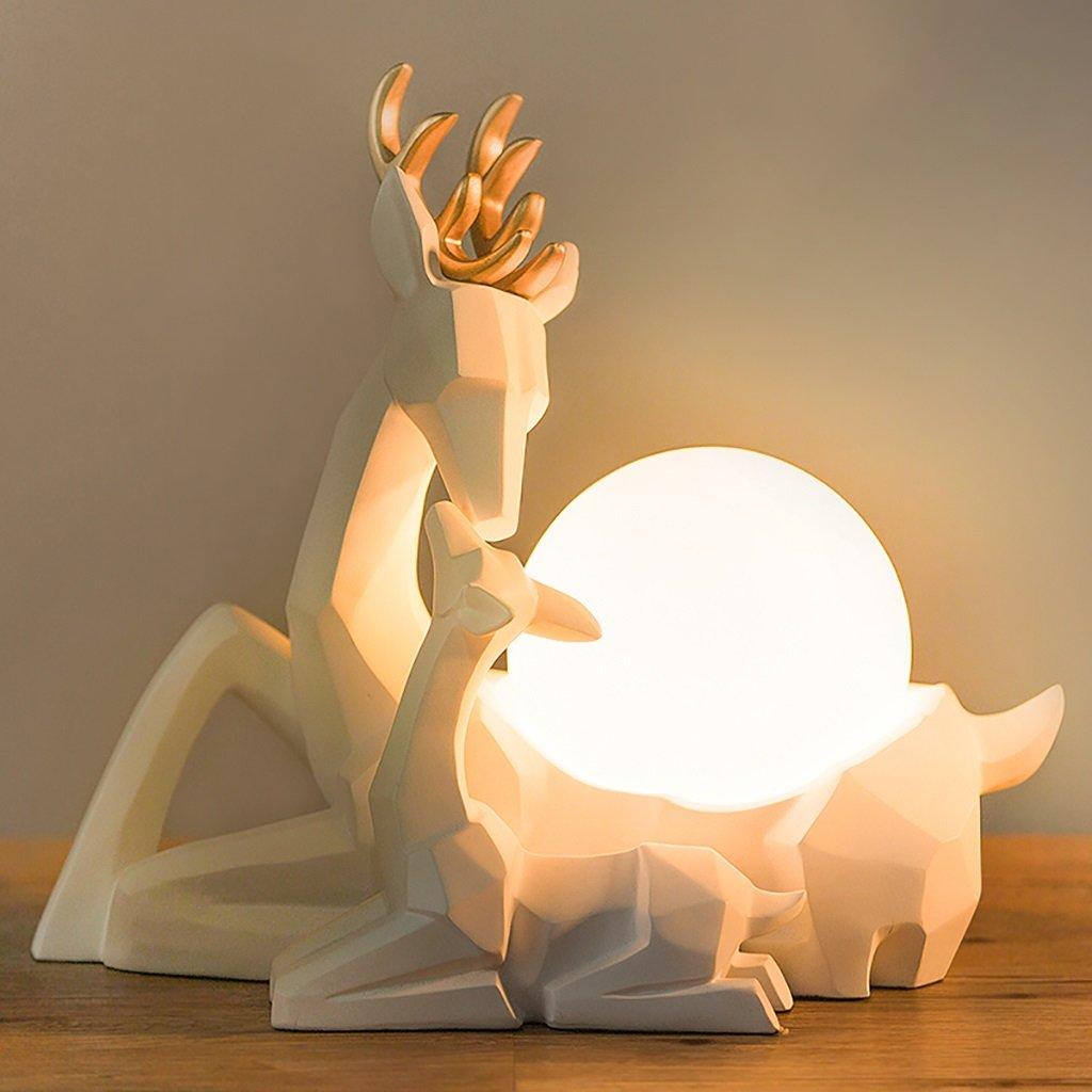 Modern Simple Desk Lamp Elk Home Decorations Bedroom Bedside Lights