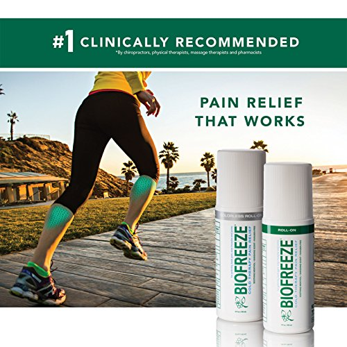 Biofreeze Pain Relief Gel for Arthritis, 3 oz. Roll-On Cold Topical Analgesic, Fast Acting & Long Lasting Cooling Pain Reliever for Muscle, Joint, & Back Pain, Colorless Formula, Pack of 2, 4% Menthol by Biofreeze (Image #3)