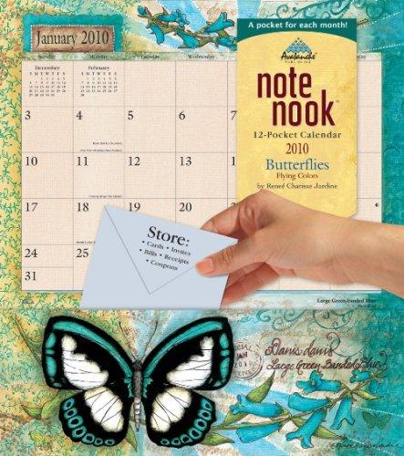 Butterflies Note Nook 2010 Wall Calendar