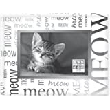 Sixtrees Meow All Over Expression Luxury Frame, 4 by 6-Inch