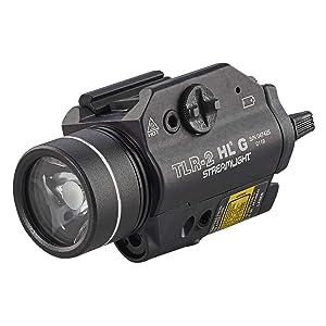Streamlight 69265 TLR-2 800 High Lumens G Rail Mounted Flashlight with Green Laser