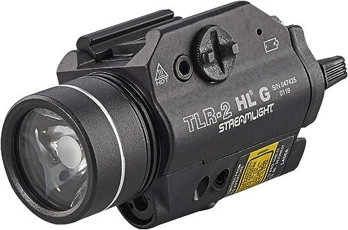 Streamlight 69265 TLR-2 800 High Lumens G Rail Mounted Flashlight with Green Laser, Black