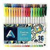 Art Alternatives Fine Liner Pen Set/36, Multicolor