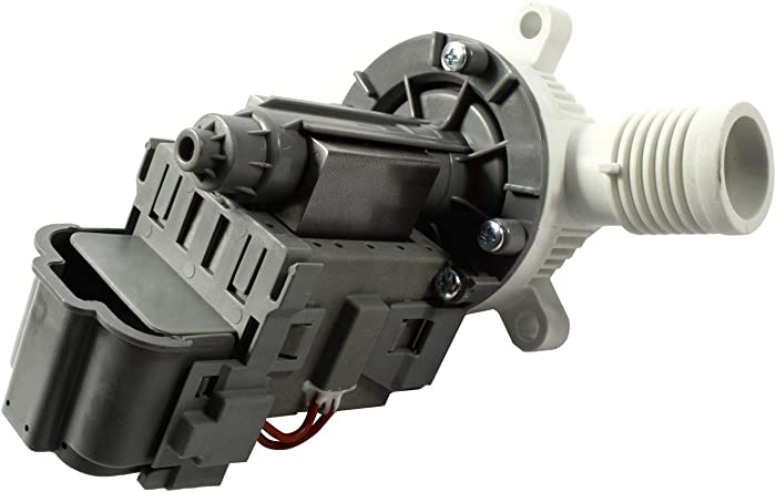 HQRP Washer Drain Pump compatible with Whirlpool W10276397 WPW10276397 WPW10276397VP B40-3A EA2580215 EAP11751719 LP397 PS11751719 PS2580215 AH2580215 Replacement