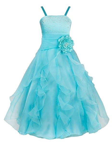 TiaoBug - Vestido - para niña azul azul celeste 12 años