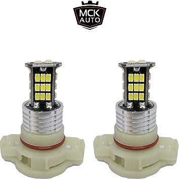 MCK Auto H16 Bombillas LED Canbus de luz blanca diurna para correr sin error en el