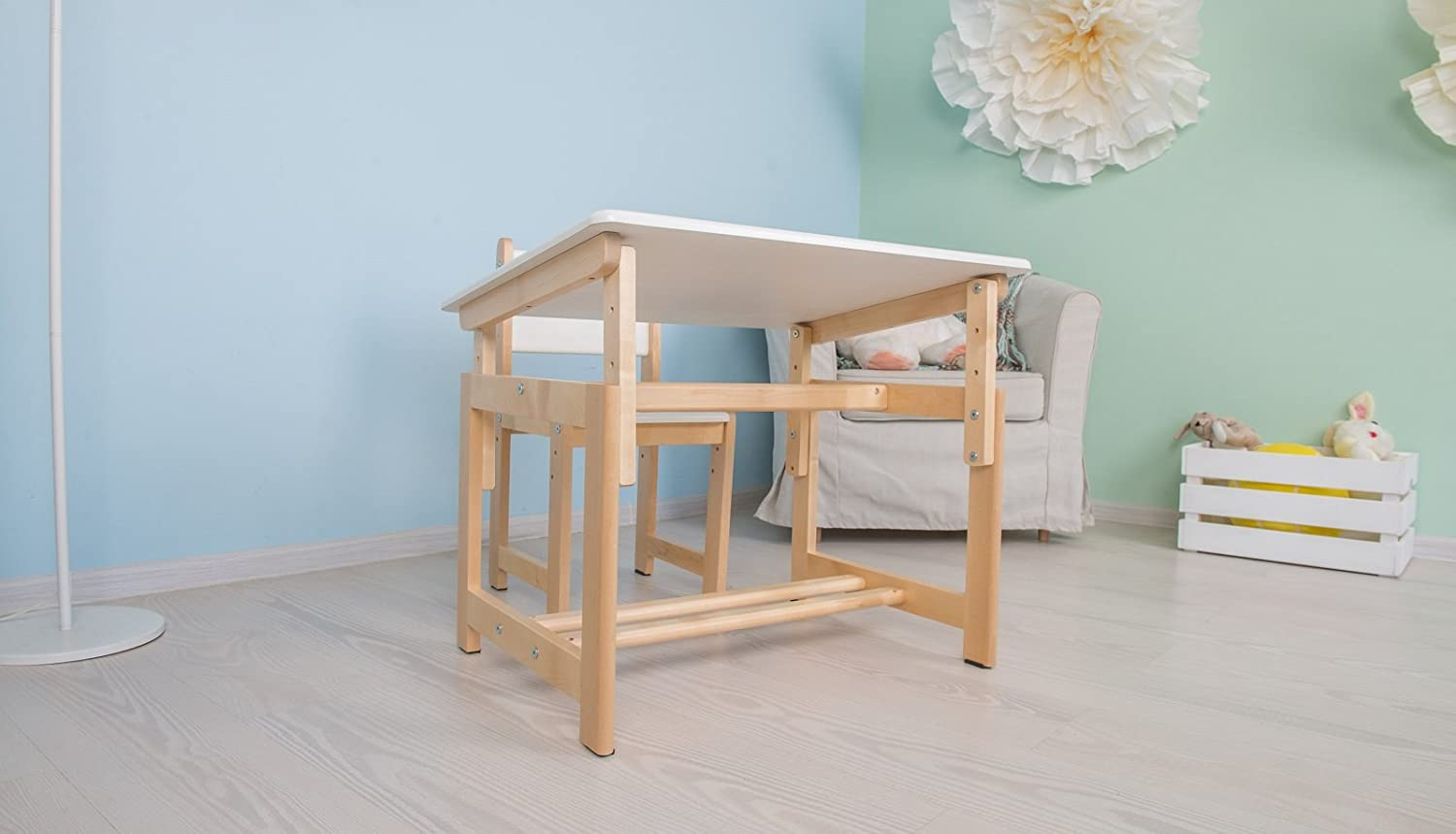 Childrens Table and Chair Set Polini Kids Eco 400 SM Wooden Model 3051-03