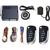 Wakauto Sistema de Alarma de Seguridad Universal para Automóvil de 12 V Entrada sin Llave Pasiva Sistema de Arranque…