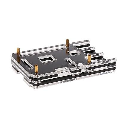 Cubierta Caja Protectora Caja Carcasa para Raspberry Pi 3 B+ Model B - Negro