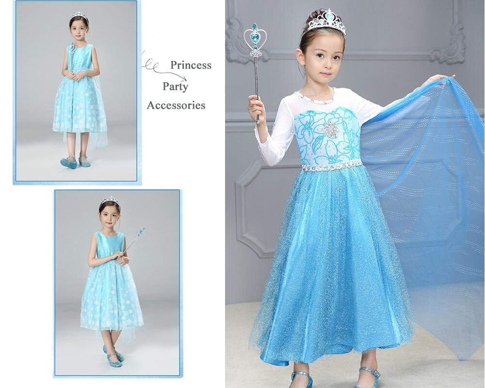Amazon.com: Yosbabe Princess Elsa Dress up Accessories Party Favors ...