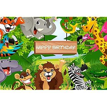 Amazon Com Ofila Happy Birthday Backdrop 7x5ft Cartoon